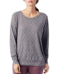 Alternative Apparel - Polka Dot Sweatshirt - Lyst