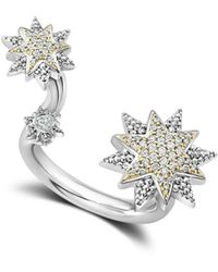 Lagos - 18k Gold & Sterling Silver North Star Diamond Ring - Lyst
