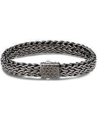 John Hardy Men's Flat Classic Chain Bracelet, Dark Silver - Metallic