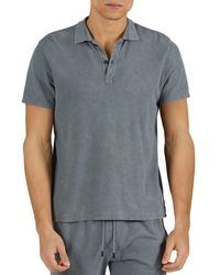 ATM Mineral Wash Pique Regular Fit Polo Shirt - Grey