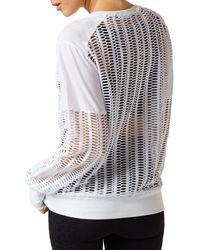 BLANC NOIR Linear Mesh Sweatshirt - White