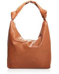 Aqua Slouchy Hobo Bag - Brown