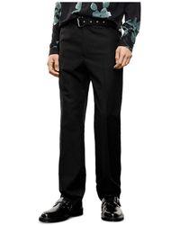 The Kooples Black Belted Black Suit Pants