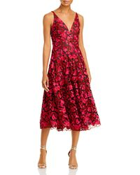 Dress the Population Elisa Embroidered Fit And Flare Dress
