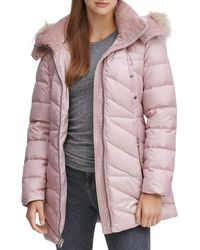 Marc New York Shirley Faux Fur Trim Hood Parka - Pink