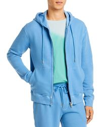 ATM French Terry Chroma Wash Zip Up Hoodie - Blue