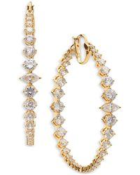 Nadri Leah Statement Hoop Earrings - Metallic