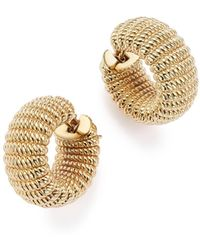 Roberto Coin - 18k Yellow Gold Chic And Shine Hoop Earrings - Lyst