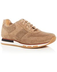 Vince - Men's Larson Perforated Suede Lace Up Sneakers - Lyst