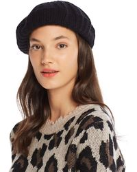 C By Bloomingdale's Rib - Knit Cashmere Beret - Black