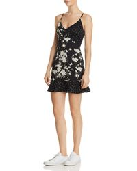 Re:named - Geelia Mixed-print Mini Dress - Lyst