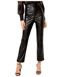 Bardot Polly Faux Leather Trousers - Black