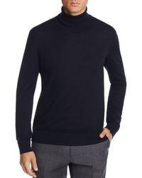 Bloomingdale's Merino Wool Turtleneck Sweater - Blue