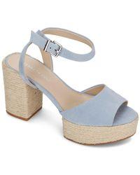 Kenneth Cole Phoenix High Block Heel Platform Sandals - Blue