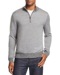 Brooks Brothers - Birdseye Half Zip Sweater - Lyst