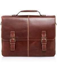 Boconi Bryant Leather Briefcase - Brown