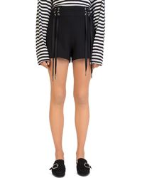 The Kooples - Daisy Lace-up Shorts - Lyst