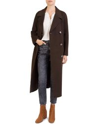 The Kooples - Double-breasted Long Wool Coat - Lyst
