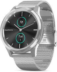 Garmin Vivomove Luxe Milanese Mesh Bracelet Touchscreen Hybrid Smartwatch - Metallic