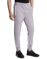 Karl Lagerfeld Paris Chevron Track Pant - Grey