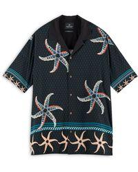 Scotch & Soda Loose Fit Hawaiian Shirt - Blue