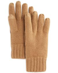 Bloomingdale's The Store At Bloomingdale's Textured Finger Text Gloves - Natural