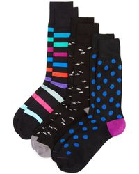 Paul Smith - Mixed-pattern Socks - Pack Of 3 - Lyst