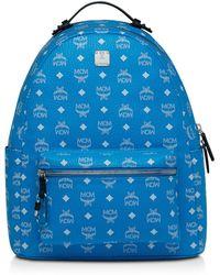 MCM - Stark Visetos Leather Backpack - Lyst