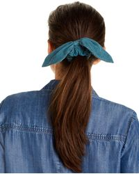 Chan Luu Corduroy Tied Scrunchie - Blue