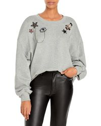 Cinq À Sept Blaire Patch Sweatshirt - Grey
