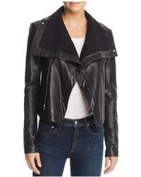 VEDA - Max Drape Leather Jacket - Lyst
