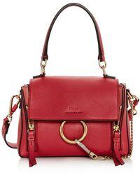 Chloé Faye Mini Leather Satchel - Multicolour