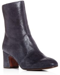 Chie Mihara - Women's Odin Nubuck Leather Block-heel Boots - Lyst