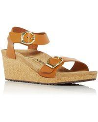 Birkenstock Papillio Soley Buckle Wedge Sandals - Brown