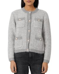 Maje - Morning Lurex Sequined Cardigan - Lyst