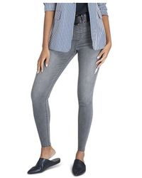 Spanx Distressed Skinny Jean Leggings - Blue