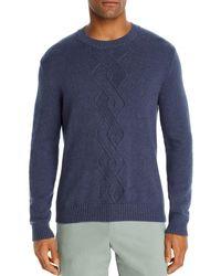 Bloomingdale's Cotton - Blend Argyle Classic Fit Crewneck Jumper - Blue