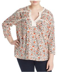 Lucky Brand - Floral Print Tie Top - Lyst