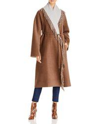 Lafayette 148 New York Reversible Cashmere Coat - Brown
