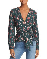 Lost + Wander - Lost + Wander Floral-print Wrap Top - Lyst