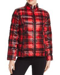 Aqua Packable Puffer Jacket - Red