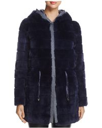 Maximilian | Reversible Rabbit Fur & Down Jacket | Lyst