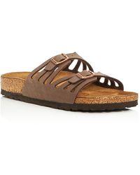 Birkenstock - Women's Granada Cutout Slide Sandals - Lyst
