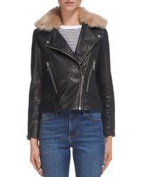 Whistles - Toscana Leather Moto Jacket - Lyst