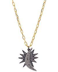Aqua - Long Pendant Necklace - Lyst