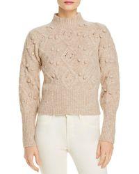 Blank NYC Popcorn Stitch Sweater - Natural