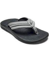 Olukai Men's Hokua Flip - Flops - Grey