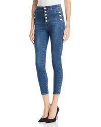 J Brand - Natasha Sky High Skinny Crop Jeans In Lovesick - Lyst