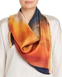 Lafayette 148 New York Textured Desert Silk Scarf - Multicolour