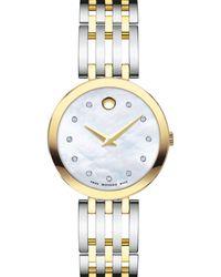 Movado Esperanza Diamond Two - Tone Watch - Multicolour